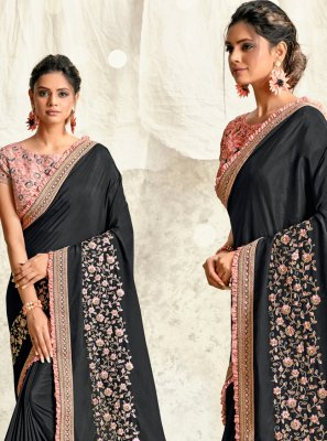 Grey Mehndi Traditional Designer Saree