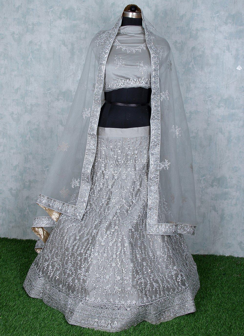 Grey Sangeet Lehenga Choli