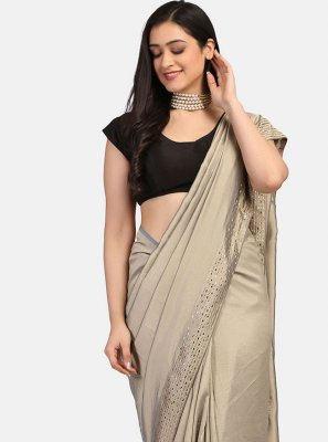 Grey Stone Work Trendy Saree
