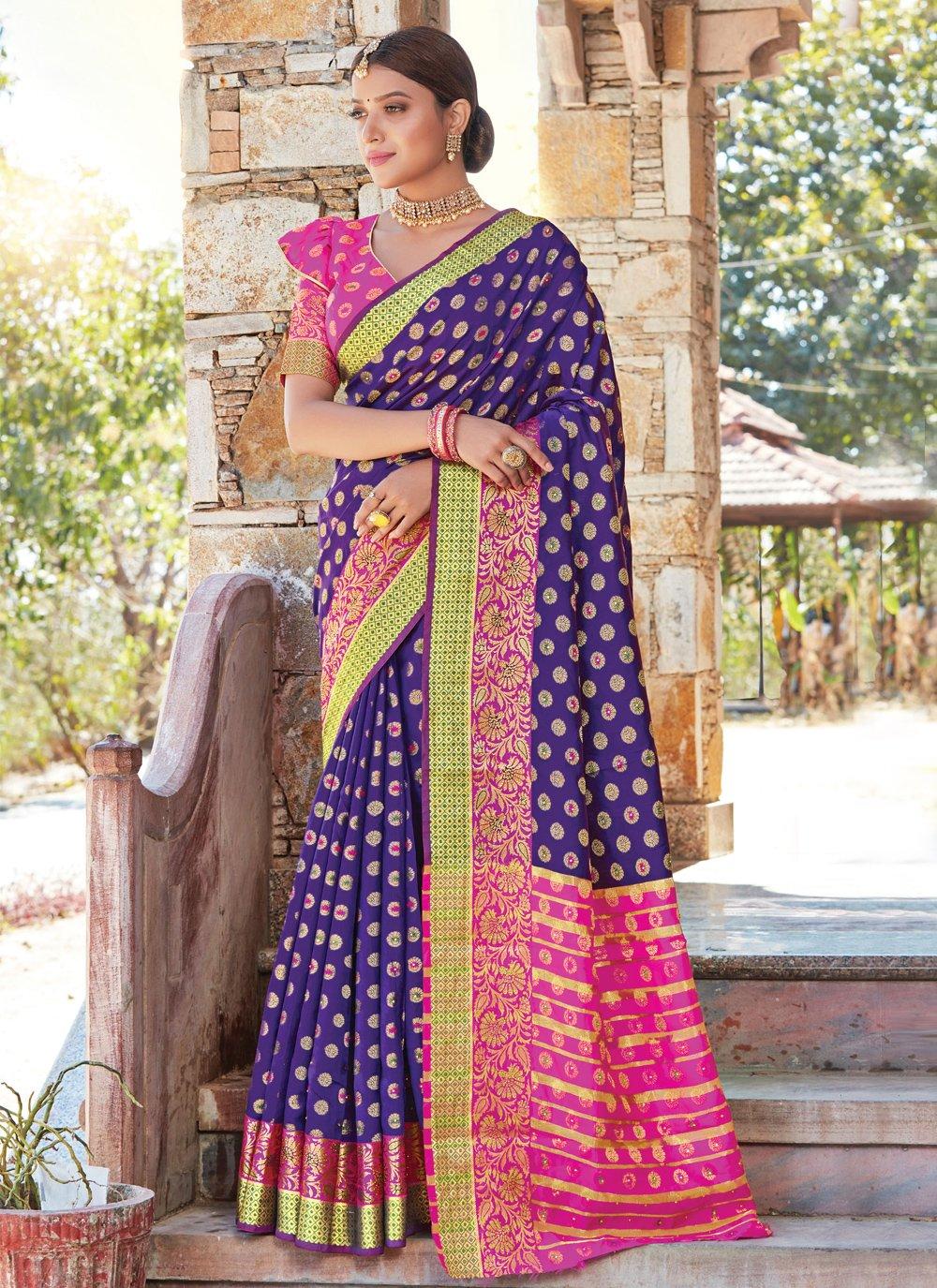 Handloom silk Weaving Traditional Saree