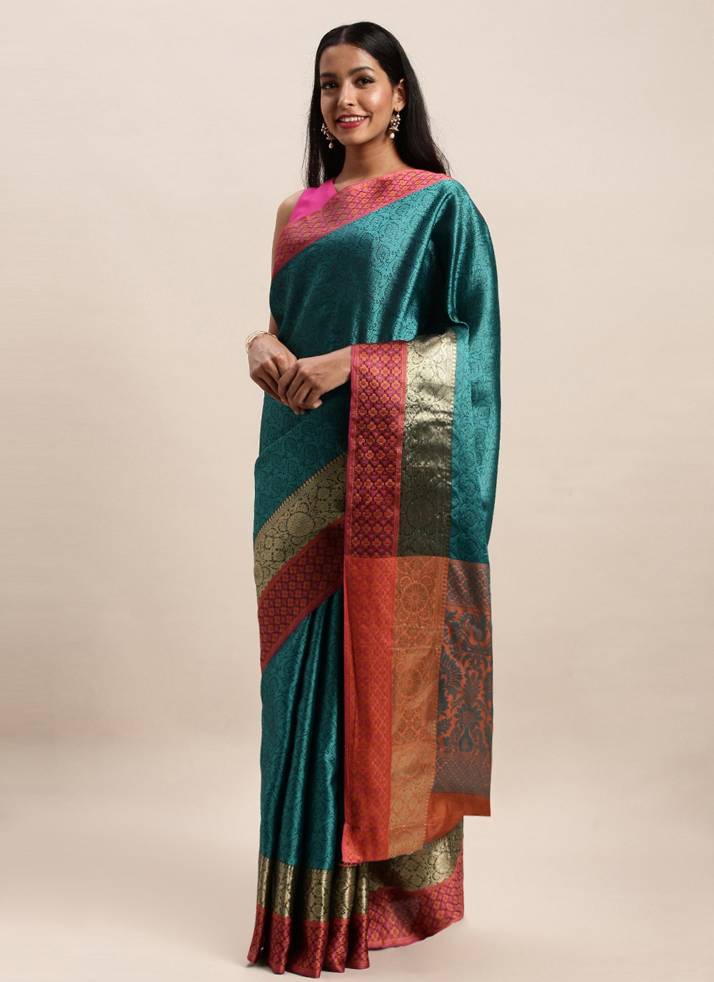 Handloom silk Woven Traditional Saree