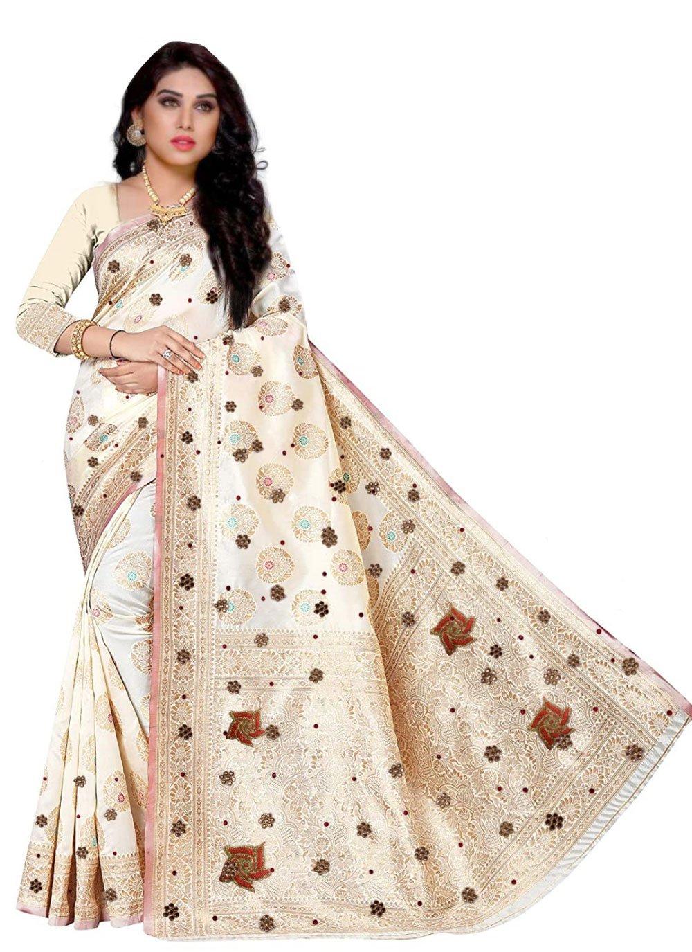 Handwork Fancy Fabric Designer Saree