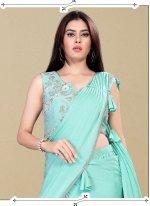 Handwork Lycra Designer Saree