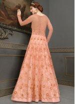 Handwork Mehndi Floor Length Anarkali Suit