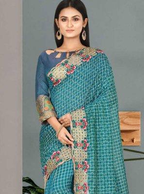 Handwork Satin Silk Classic Saree