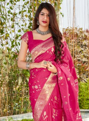 Hot Pink Ceremonial Designer Traditional Saree