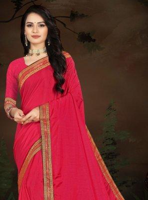 Hot Pink Ceremonial Traditional Saree
