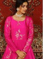 Hot Pink Designer Gown