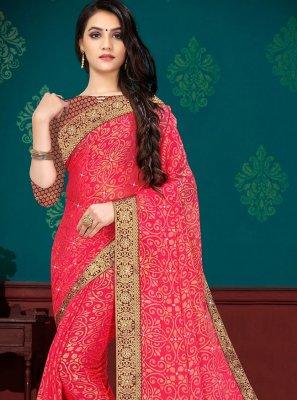 Hot Pink Festival Classic Designer Saree