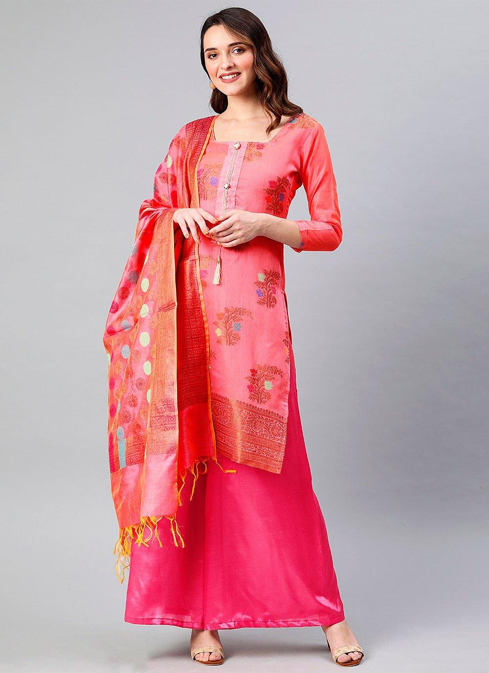 Hot Pink Festival Designer Palazzo Suit