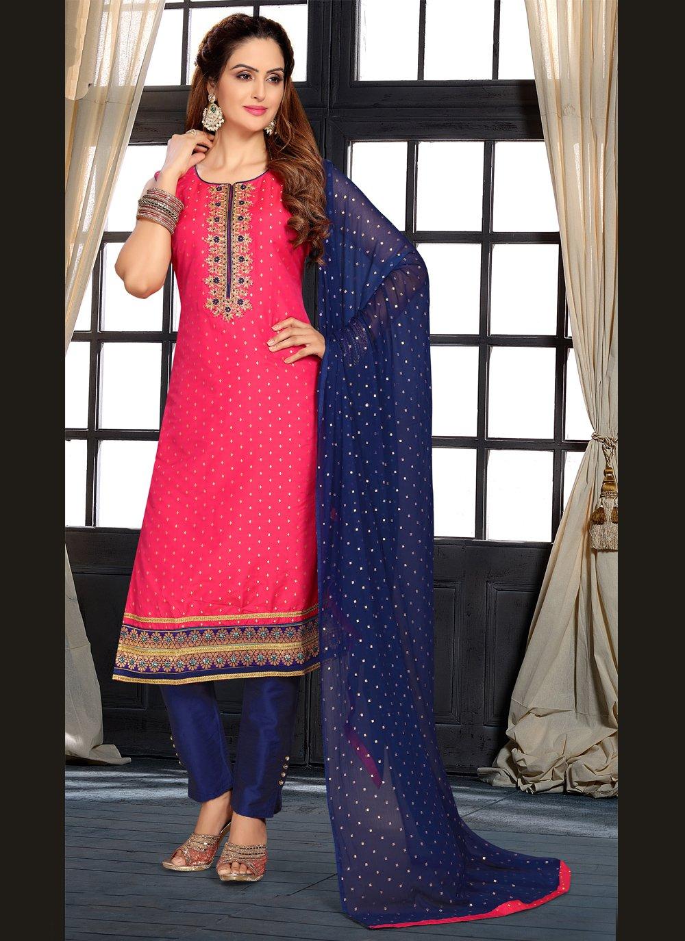 Hot Pink Sangeet Designer Suit