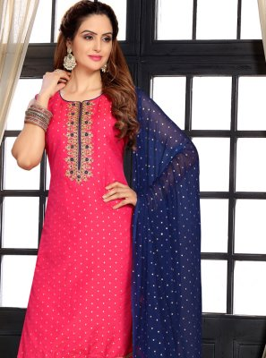 Hot Pink Sangeet Designer Suit