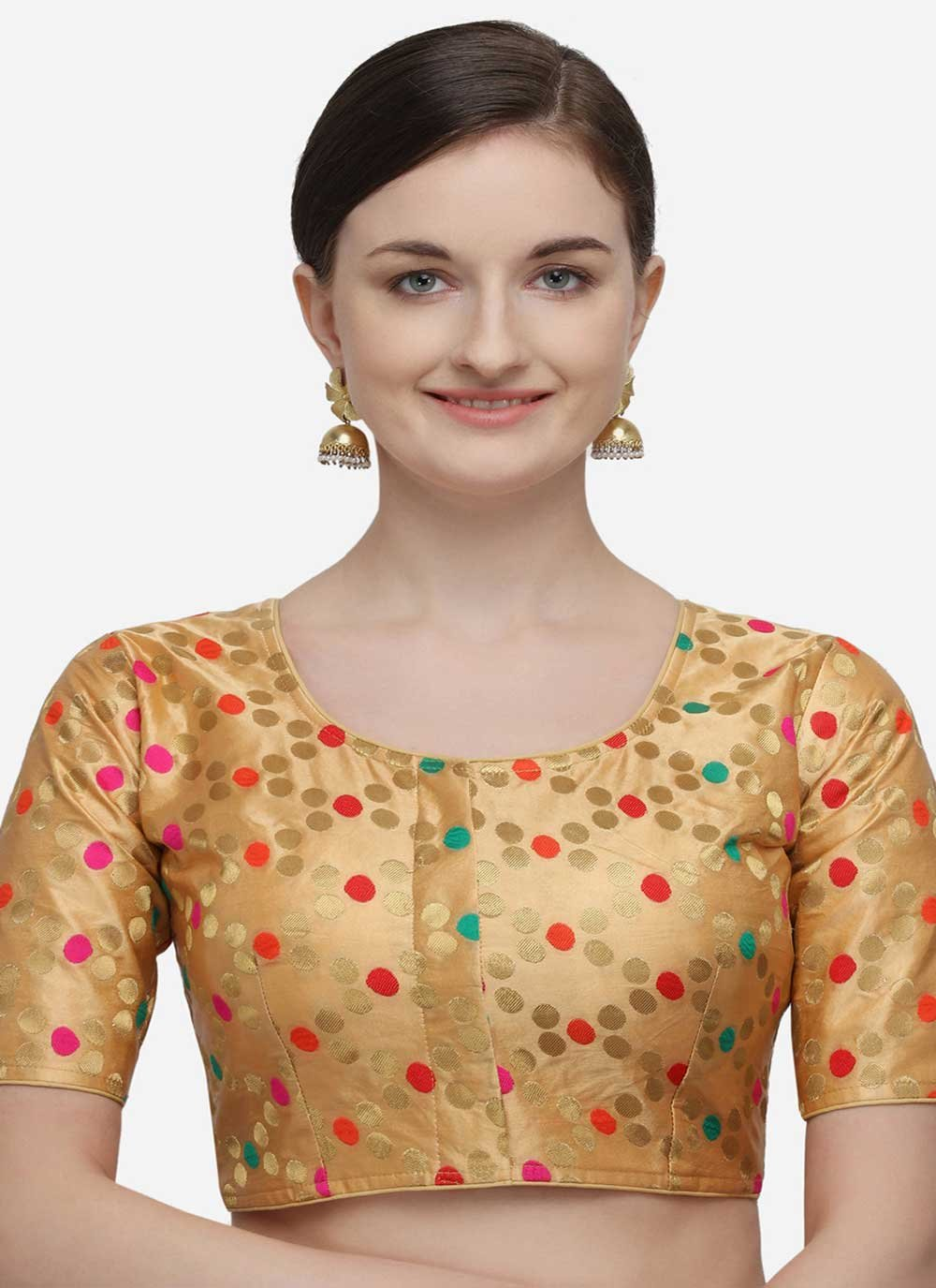 Jacquard Gold Designer Blouse