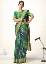Jacquard Silk Ceremonial Shaded Saree