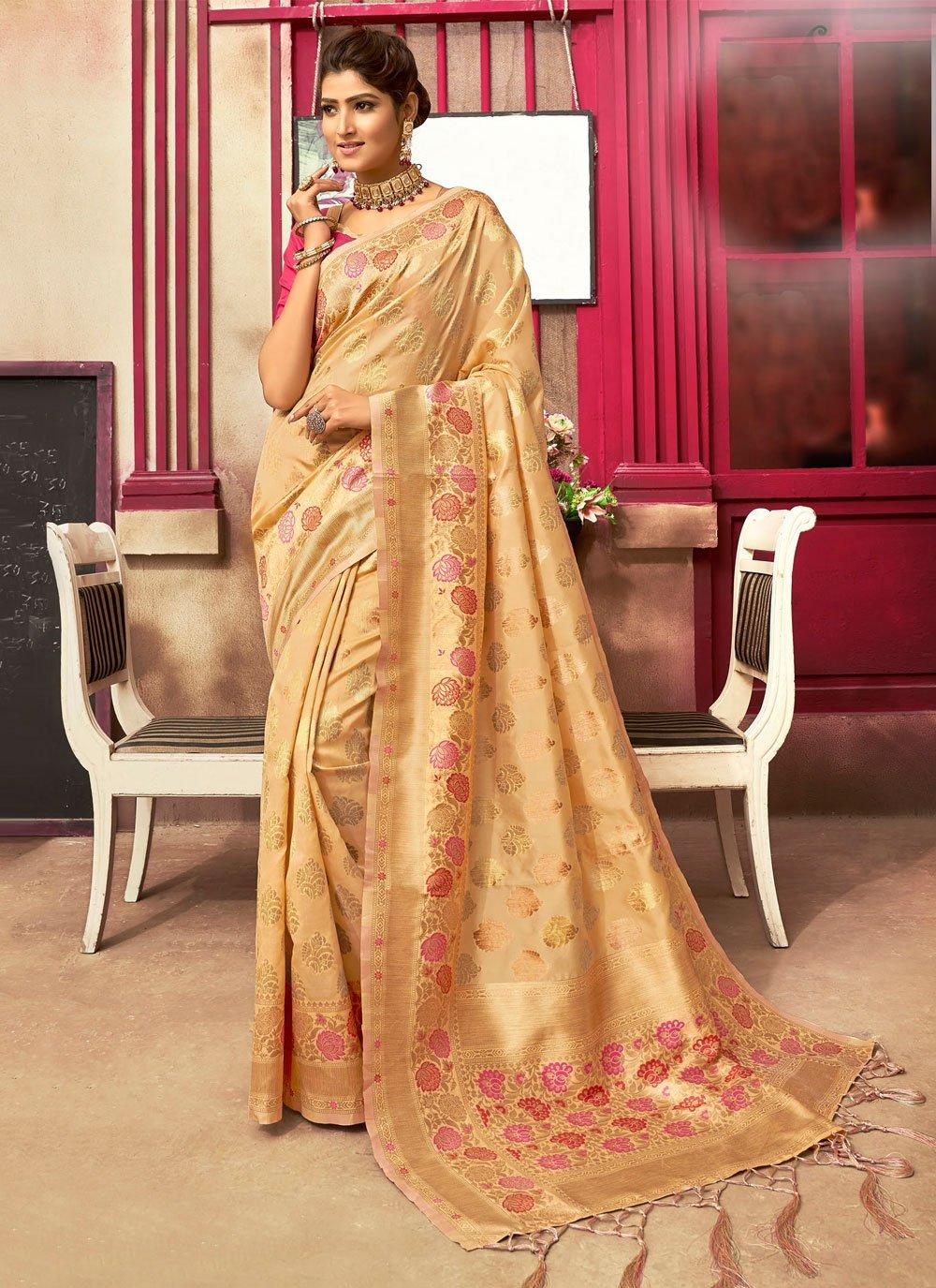 Jacquard Silk Gold Fancy Designer Traditional Saree