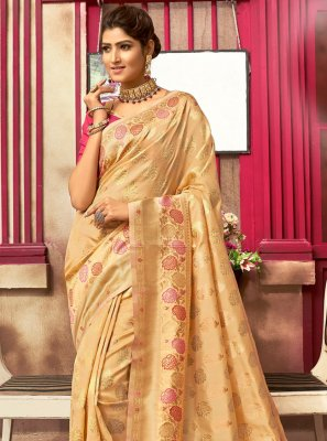Jacquard Silk Gold Fancy Designer Traditional Saree