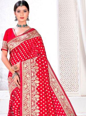 Jacquard Silk Rani Designer Traditional Saree