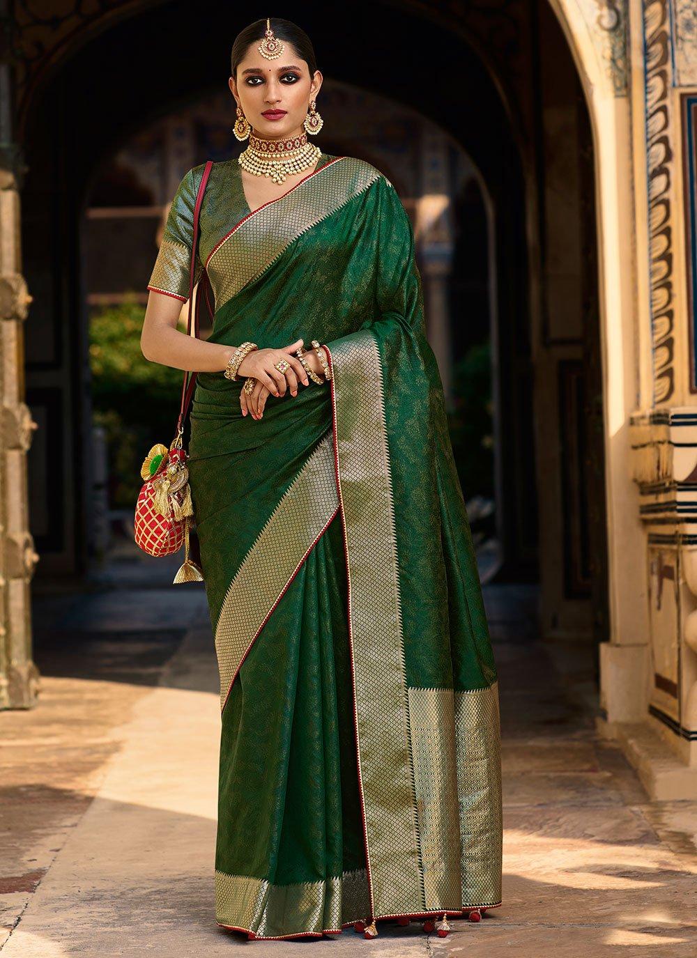Jacquard Silk Traditional Saree