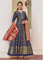 Jacquard Wedding Readymade Anarkali Salwar Suit