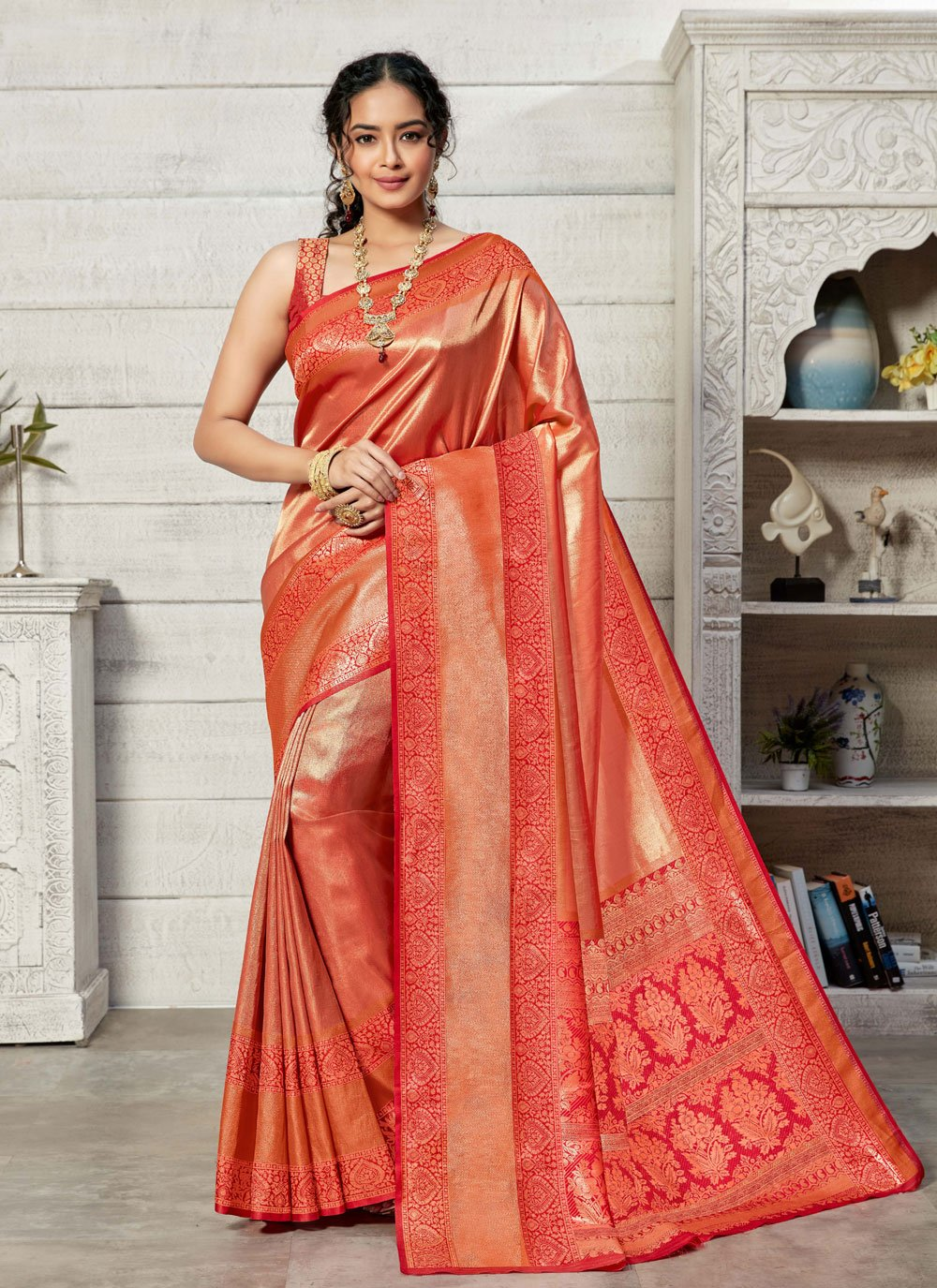 Kanjivaram Silk Ceremonial Designer Traditional Saree