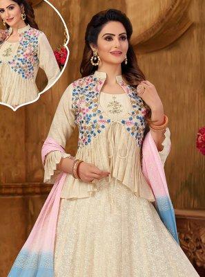 Khadi Embroidered Designer Suit