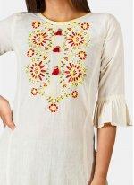 Khadi Embroidered Party Wear Kurti