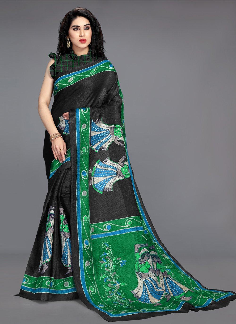 Khadi Silk Printed Saree