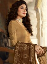 Kritika Kamra Resham Peach Faux Georgette Designer Palazzo Suit