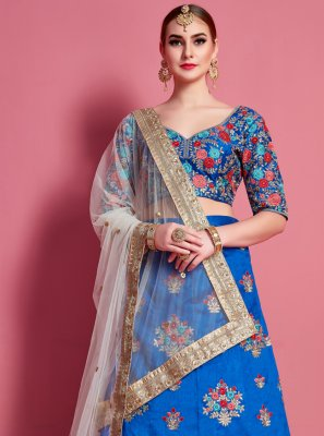 Lace Art Silk A Line Lehenga Choli