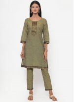 Lace Cotton Trendy Salwar Kameez