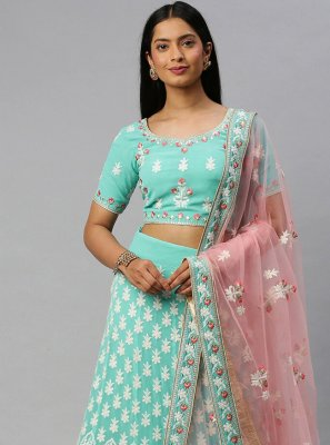 Lace Engagement Lehenga Choli