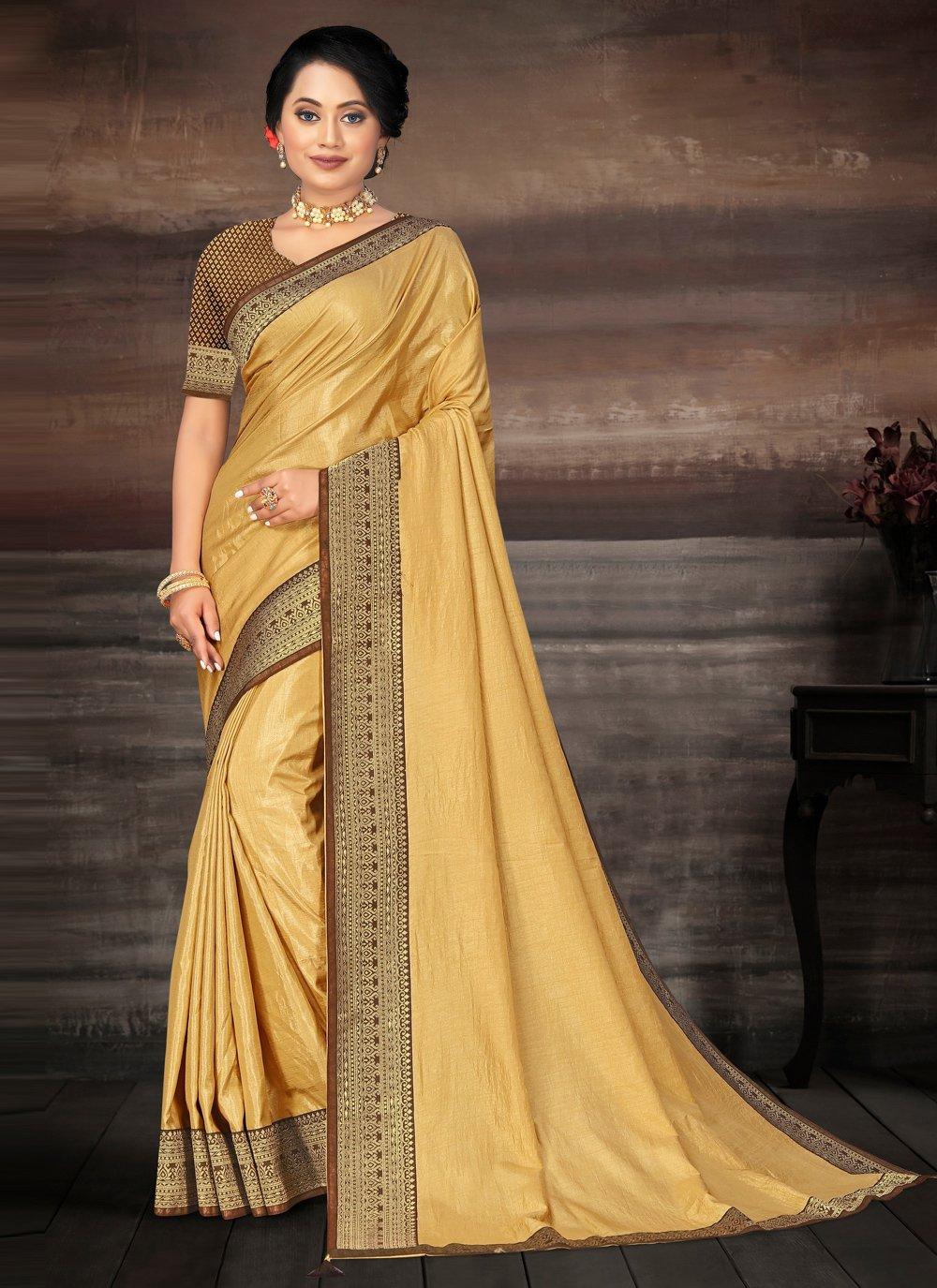 Lace Gold Bollywood Saree