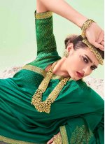 Lace Green Classic Saree