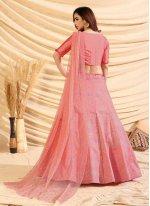 Lace Pink Lehenga Choli