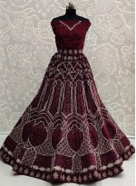 Lace Purple Lehenga Choli