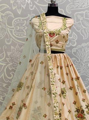 Lace Satin Silk A Line Lehenga Choli