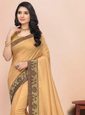 Lace Silk Beige Bollywood Saree