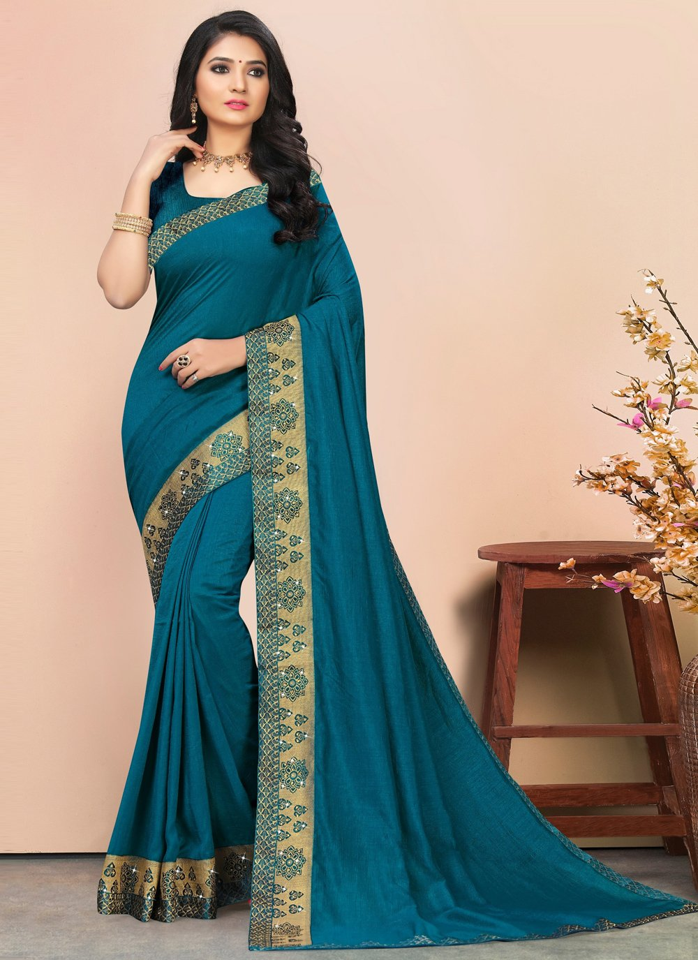 Lace Silk Contemporary Saree