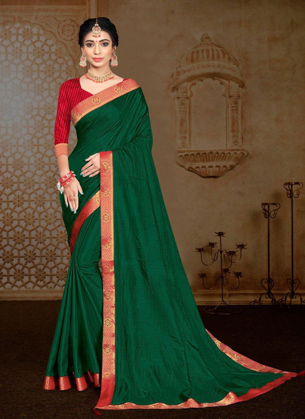 Lace Vichitra Silk Classic Saree