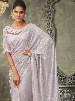 Lavender Classic Saree