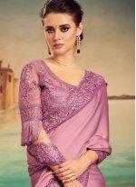 Lavender Engagement Designer Traditional Saree