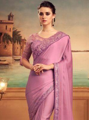 Lavender Engagement Designer Traditional Saree