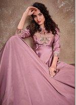 Lavender Festival Readymade Anarkali Salwar Suit