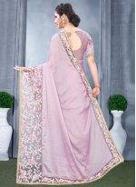 Lavender Rangoli Wedding Traditional Designer Saree