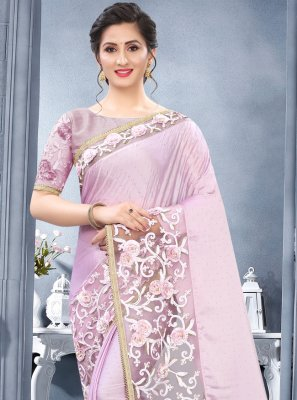 Lavender Rangoli Wedding Traditional Designer Saree
