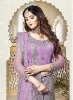 Lavender Resham Lehenga Choli