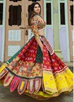 Lehenga Choli Embroidered Silk in Multi Colour