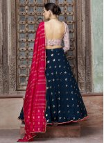Lehenga Choli Fancy Faux Georgette in Blue
