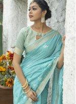 Linen Engagement Classic Designer Saree