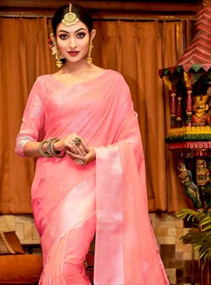 Linen Fancy Traditional Saree